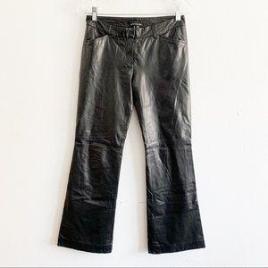 Theory Bergdorf Goodman Leather Wide Leg Pants 2
